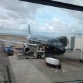 NZ航空のオークランドでのチェックイン